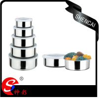 5pcs Stainless Steel Mixing Bowl Set Food Container