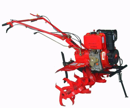 6 3kw Diesel Power Tiller Rotary Cultivator With Gear Driving