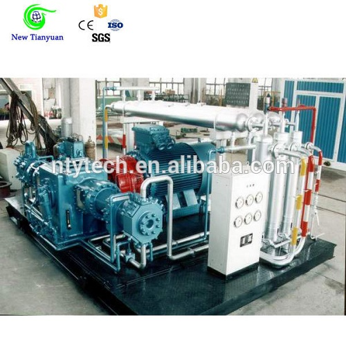 6000nm3 H Displacement Piston Gas Booster Compressor For Station