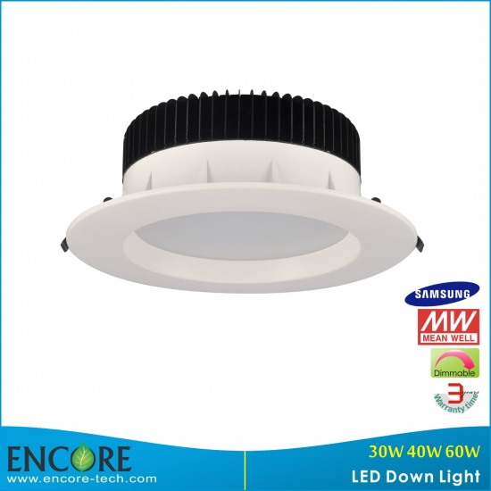 60w 8 Inches Smd Samsung New Design Led Downlight With Dimmable Meanwell Driver