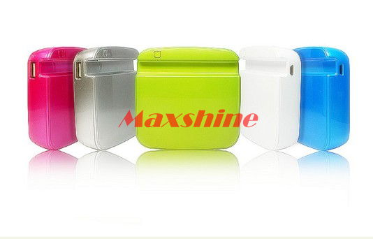 6600mah Stand Design For Iphone With Patent Built In 3 Pcs Samsung 18650 Cells Mobile Battery Backup