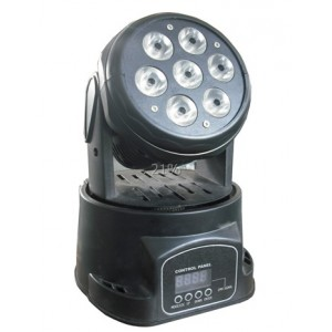 7 12w Led Moving Head Light Mini Stage Dm 004