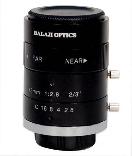 75 Mm Mega Pixel Machine Vision Lens Balaji Optics India