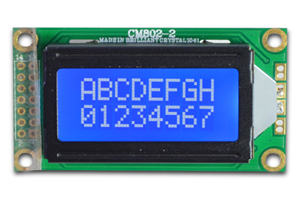 8 Charactersx2 Lines Lcd Display Module With Led Backlight Support Serial Parallel Interfaces Cm802