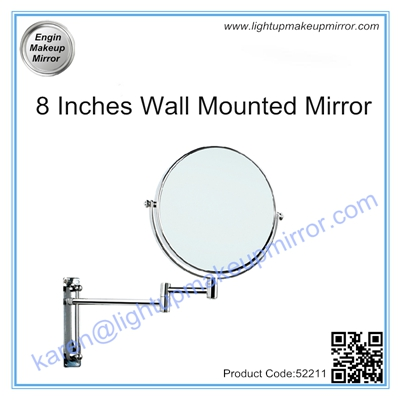 8 Inches Wall Mounted Mirror