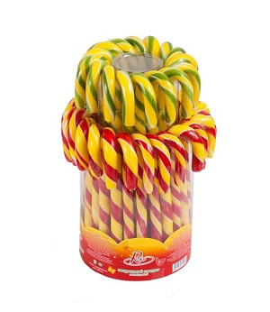 800 Candy Cane Net Weight 48gr Jar Fruit Flavours