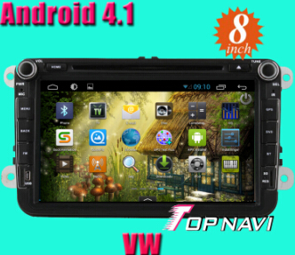8inch Vw Car Dvd Player With Android 4 1 Version A9 Dual Core 1ghz Cpu Processor And Ddr3 1g Ram 8gb