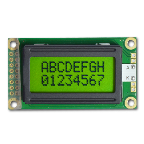 8x2 Character Lcd Display Moduel Yellow Green Cm802 6