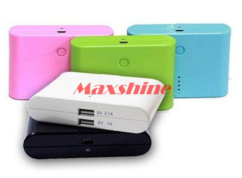 9000mah Power Bank With Dual Usb Output 2 1a Max Built In 4 Pcs Samsung Battery