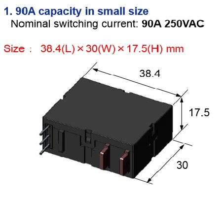90a Latching Relay By E Control Devices