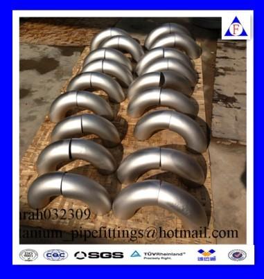 90degree Gr2 Gr12 Asme B16 9 Seamless Titanium Pipe Fittings Elbow Manufacturer