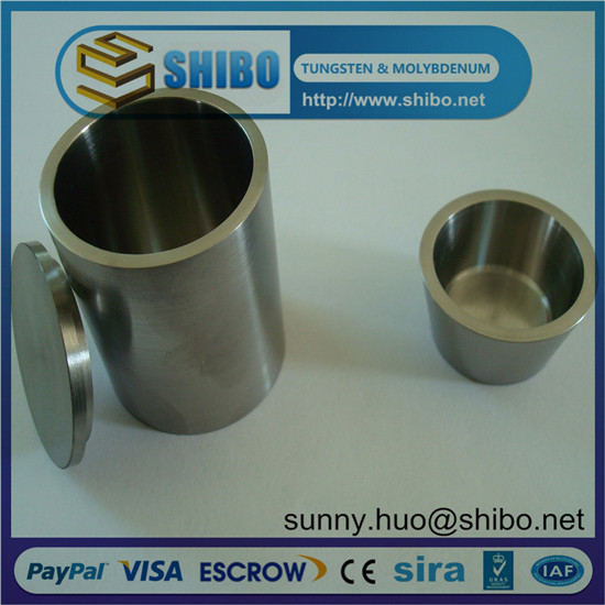 99 95 High Density Molybdenum Moly Crucible With Lip