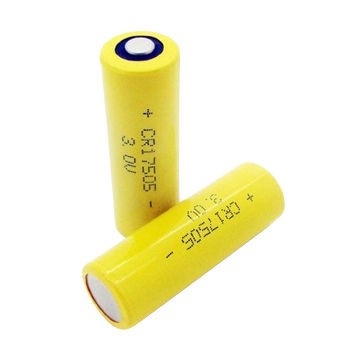 A Size Non Rechargeable Li Mno2 Primary Lithium Batteries Cr17505 2 500mah Capacity