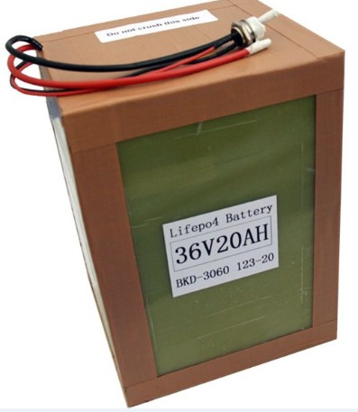 A123 Battery Pack 36v 20ah 12s1p For Electric Vehicle 1000w