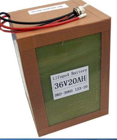 A123 Battery Pack 36v 20ah 12s1p For Electric Vehicle
