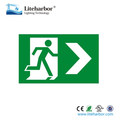 Abs Led Running Man Emergency Exit Sign