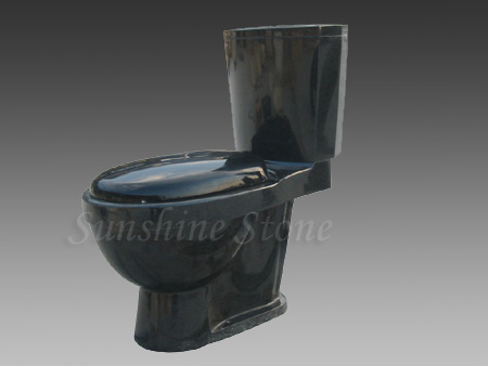 Absolute Black Granite Toilet