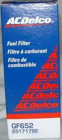 Ac Delco Gf652 Fuel Filter