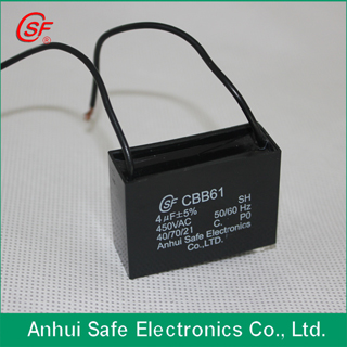 Ac Motor Capacitor Cbb61 For Electri Fan Use
