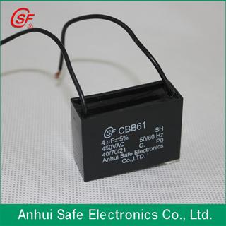 Ac Motor Capacitor Cbb61 For Electri Fan Use