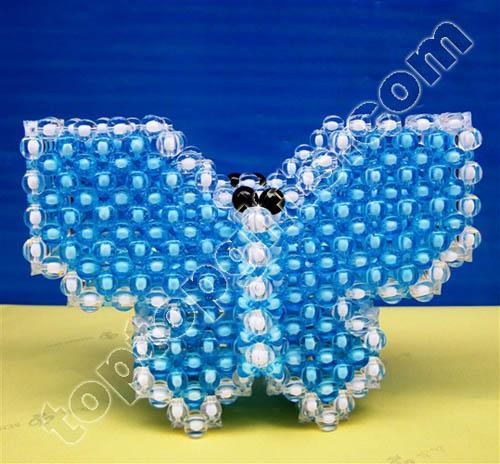 Acrylic Beaded Butterfly Penholder
