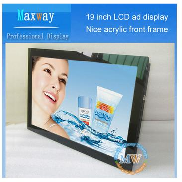 Acrylic Front Frame 19 Inch Led Advertising Display