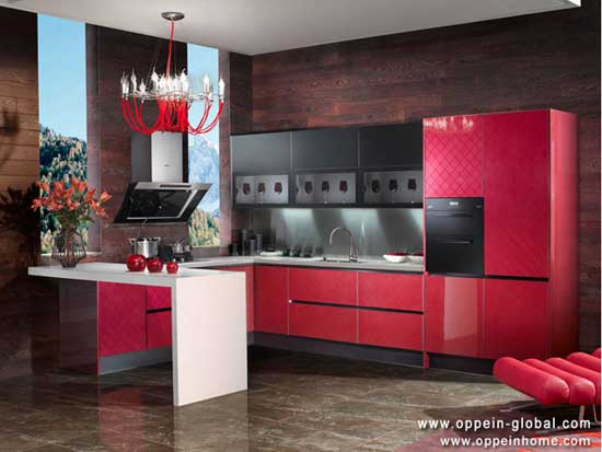 Acrylic Kitchen Cabinet Op13 077