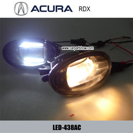 Acura Rdx Front Fog Lamp Assembly Led Daytime Running Lights Projector Drl 438ac