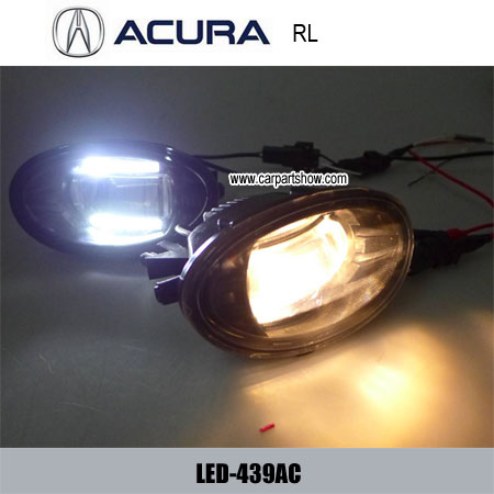 Acura Rl Front Fog Lamp Assembly Led Daytime Running Lights Projector Drl 439ac