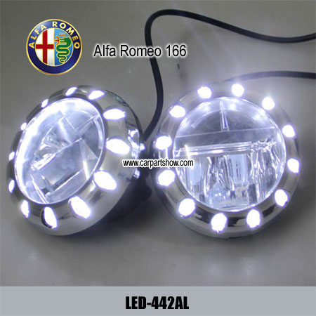 Alfa Romeo 166 Front Fog Lamp Assembly Led Daytime Running Lights Projector Drl 442al