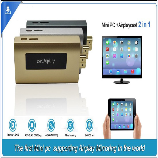 Allwinner A31s Dual Band Wifi Qt900 Airplay Mirroring Dongle