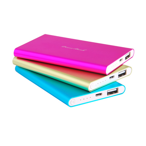 Aluminium Alloy Power Bank For Iphone 6 Slim Design Triple Safety Protection Vp142