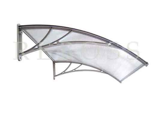 Aluminium Awning Fluted Polycarbonate M1200a S