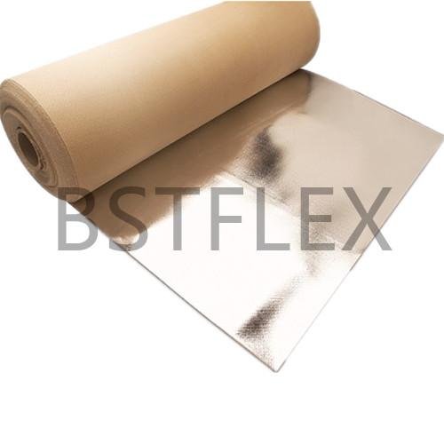 Aluminized Woven Silica Textile Blanket