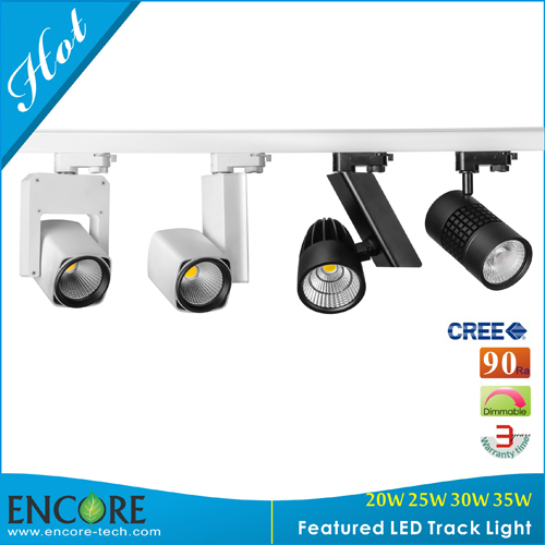 Aluminum 30w Black Led Track Lighting