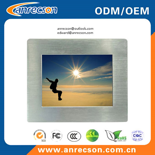 Aluminum Bezel Rugged 8 Inch Industrial Touchscreen Lcd Monitor With Hdmi Vga Dvi Lvds Input