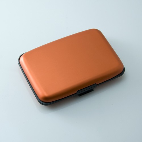 Aluminum Card Wallets Solid Color Orange