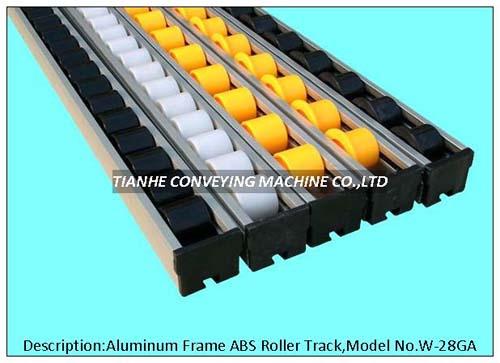 Aluminum Frame Plastic Roller Track Rail Wheel Conveyor
