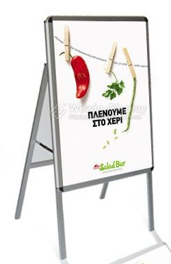 Aluminum Outdoor Poster Stand Board Display