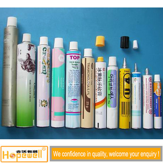 Aluminum Pharmaceutical Tubes Packaging For Cosmetic Usage Collapsible With