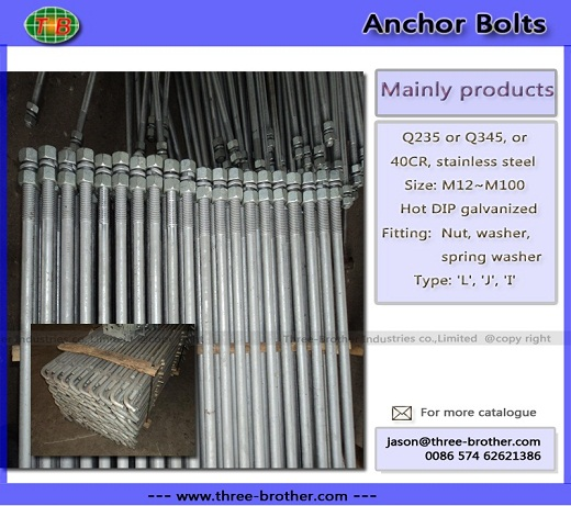 Anchor Bolts Produce According To Customers Requirements