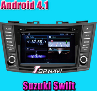 Android 4 1 Car Dvd Gps Special For Suzuki Swift 2012 2013 Ddr3 1g Ram Memory 8g Inand And A9 Dual C
