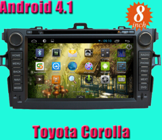 Android 4 1 Car Dvd Player For 8inch Toyota Corolla With Version A9 Dual Core 1ghz Cpu Processor And