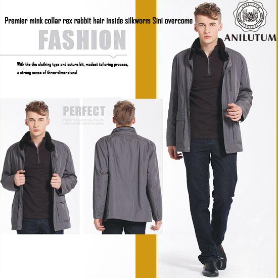 Anilutum Brand Men S Clothing Premier Mink Collar Rex Rabbit Hair Inside Silkworm Sini Overcome