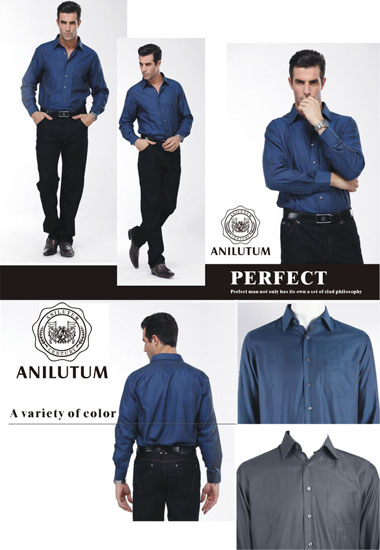 Anilutum Brand Slim Solid Color Long Sleeved Shirt V211141