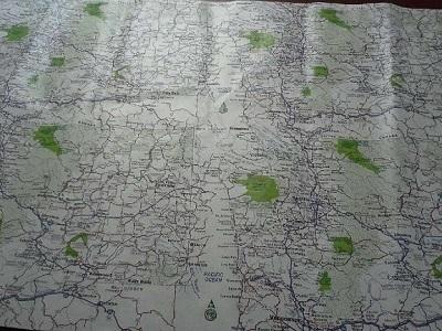 Anti Tear Water Proof Tyvek Map Zz115