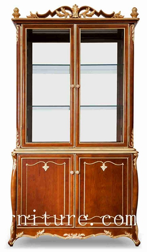 Antique China Cabinet American Craftsman Wooden Fj 138