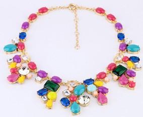 Antique Necklace Collar Neon