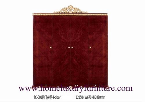Armories Wardrobes Furniture Bedroom Wardrobe Antique 4 Doors Tc001