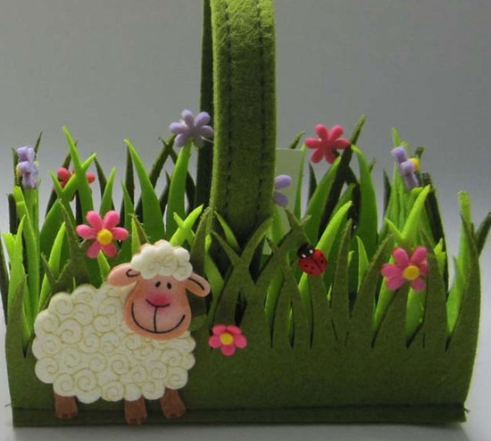 Art No 04 2421 Easter Holiday Gift Felt Basket
